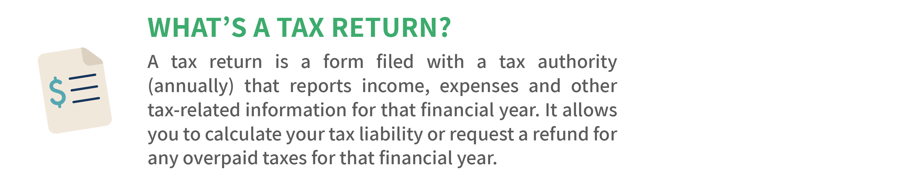 What's a tax return?