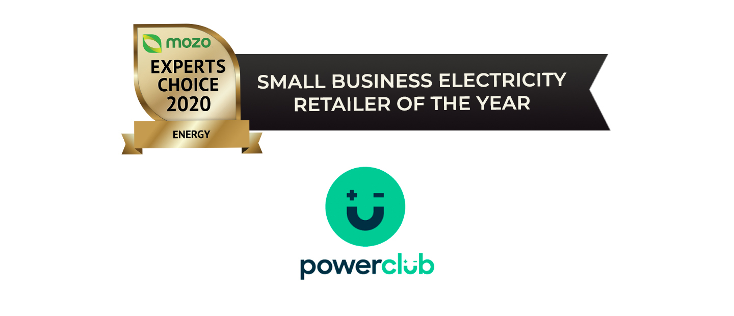 Small business energy provider fo the year - Powerclub